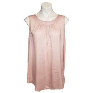 LOFT Plus >Blush Pink Sleeveless Blouse Size 16/18